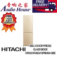 HITACHI R-BG415P6MSX-GBE 330L 2 DOOR FRIDGE ***1 YEAR HITACHI WARRANTY***