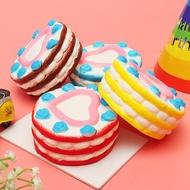 2PCS Jumbo Squishy Love Cake 12cm Slow Rising Collection Gift Decor Toy