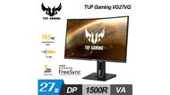 【ASUS 華碩】TUF GAMING VG27VQ 27吋 極速曲面電競螢幕 【加碼贈口罩收納套】
