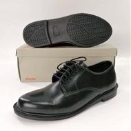 Bata รองเท้าคัชชูหนัง สีดำ แบบผูกเชือก ยี่ห้อบาจาของแท้ รุ่น821-6781