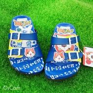 妖怪手錶童款造型勃肯拖鞋 [2130] 藍 MIT台灣製造【巷子屋】