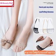 *ส่งจากไทย* Buy 5 Free 1 ถุงเท้าคัชชูซ่อนมิด 👉 ถุงเท้าคัทชู เนื้อผ้าฝ้าย ใส่สบาย Lace socksถุงเท้าลูกไม้ ถุงเท้ารองเท้าส้นสูง