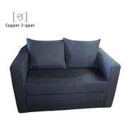 HARMON 2 In 1 Foldable Sofa Bed Modern In 2 Seater And Free 2 Pillows / Sofa Bed Foldable Murah Murah