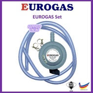 EUROGAS Gas Safety Regulator with 1.5 Meter Gas Pressure Hose (SIRIM Gas Regulator) Gas Regulator Set