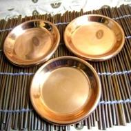 日本帶回3入銅茶托