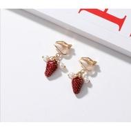 soju/evian/strawberry earrings