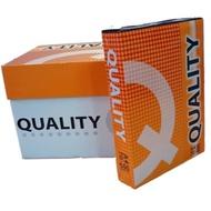 (限時特價)QUALITY(橘)影印紙70磅A4/A5~1包500張!A4一包$75元,A5一包$45元!