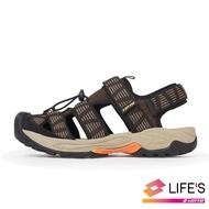 【LOTTO】男 護趾排水運動涼鞋(咖啡-LT0AMS1653)