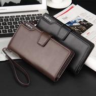 韓版男士長夾 多卡位錢包 休閑手拿包 手機包 錢包男 長夾 男夾 潮男錢包 錢包長款 卡包