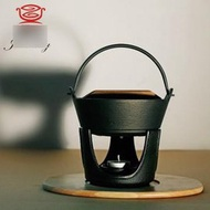【小火鍋-鑄鐵-黑色土鍋-提手-單底-16】鑄鐵鍋 組合迷你小火鍋 老鐵幹包菜鍋(外徑16.5內徑14.5高20(含手提)盤高9cm,容量0.49L)-8001017