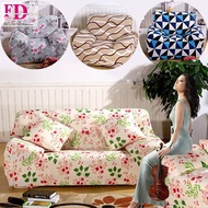 Cushion cover as Free Gift! L Shape Universal Sofa Cover Plain Color Printed Styles Sofa Recondition