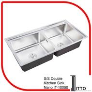 ITTO S/S DOUBLE KITCHEN SINK NANO IT-10050