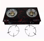 Lexing Glass Burner Double Gas Stove