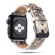 สายนาฬิกาแทนสายหนังสำหรับ Apple Watch Series 1/2/3/4 38/40 มม Gold