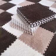 兒童毛絨面地毯拼接臥室滿鋪地板墊子拼圖方塊泡沫地墊榻榻米加厚片