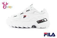 FILA D-FORMATION 鋸齒鞋 韓版 成人女款 復古老爹鞋 厚底運動鞋 D9933#白色◆OSOME奧森鞋業