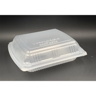 Extra Big Lunch Box [ 50pcs± ] BENXON BX-290 - Disposable PP Plastic Food Box - Chicken Chop Box - BX 290