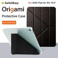 เคสSwitchEasy Origamiแบบใหม่มีฝาพับและขาตั้งสำหรับ2020 iPad Air 4th 10.9นิ้วสำหรับ2020 iPad Air 4th Gen Auto Wake/SleepรองรับApple Pencil 2 Charging