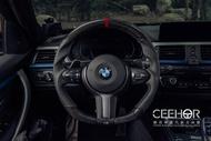 [細活方向盤] 正碳纖維紅環款 BMW F30 F32 F20 F34 F36 F80 F82 寶馬 變形蟲方向盤 方向盤 造型方向盤