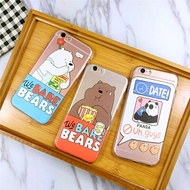 We bare Xiong Baixiong brown bear iphone6s/plus transparent silicone phone case 5s soft case Apple