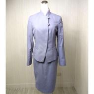 🇹🇼二手 華航空姐制服 前代改良式旗袍 紫雲灰