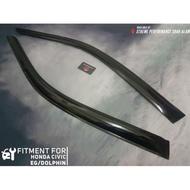 Window Door Visor Wind Deflector For Perodua Honda Civic EG Dolphin