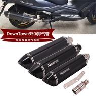 R現貨【】適用於摩托踏板車光陽DownTown350i改裝排氣管DownTown350i排氣管