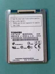 (故障) 東芝TOSHIBA 1.8吋 80GB CE/ZIF介面硬碟 MK8034GAL