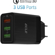 ✦ ECLE Head 3 Ports Quick Charge 3.0 Charger ☺