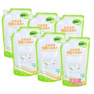 NacNac奶瓶蔬果酵素洗潔慕斯(奶瓶清潔劑)「補充包600MLx6包」nac奶瓶清潔劑 娃娃購