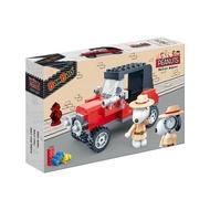 【Fun心玩】NO.7527 BanBao 邦寶積木 SNOOPY 史努比系列 偵探小車(樂高Lego通用) 積木