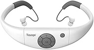 Waterproof Headphones for Swimming, Waterproof MP3 Player with Shuffle Feature-White