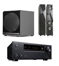 JBL  Studio 190+Audiolife SUPER-X 10吋 500W 主動式超低音+TX-NR595 7.2聲道 環繞擴大機