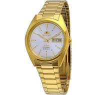 Orient #FAB00002W Men's 3 Star Standard Gold Tone Silver Dial Automatic Watch