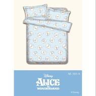 迪士尼正版授權-Alice愛麗絲磨毛雙人床包組5尺DY200038