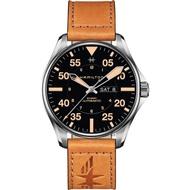 【HAMILTON 漢米爾頓】卡其飛行員機械錶-黑x卡其色/46mm(H64725531)
