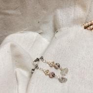 ELA handmade [ 獨家設計 ]- [海松]斑馬石 天然石耳環 手工耳環