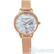 限時 滿3千賺10%點數↘  OLIVIA BURTON OB16WL85 冬季仙境 萌兔 玫瑰金網狀錶帶 女錶【錶飾精品】
