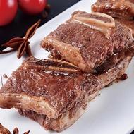 【豪鮮牛肉】安格斯頂級凝脂帶骨牛小排6包(200G/包/3-6片/單骨切)