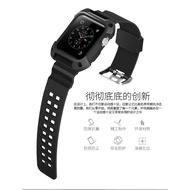 【川月】適用apple watch表帶4手表iwatch3一體式運動型硅膠2代保護套42mm38iphone wat