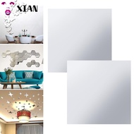 XIANSTORE Ultra-thin Stickers DIY Soft Mirror Mirror Adhesive stickers Self-adhesive PET Mirror Sticker Acrylic Wall Stickers