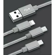 (公司貨、開發票)高質量 一分三充電線 (2.1A) 蘋果、安卓機 都能使用