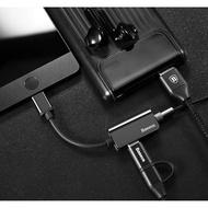 倍思 Type C 轉 3.5mm耳機+Type C充電 同時進行 轉接頭/小米6/Mix 2/Mate 10-ZY
