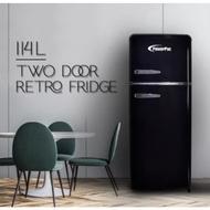 114L 2-Door Retro Fridge Mini Fridge