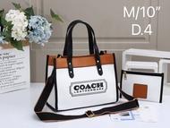 กระเป๋าถือ COACH ผ้าแคนวาส สะพายก็ได้ได้ หรือจะถือก็ดี พร้อมส่ง  มาพร้อมกระเป๋าใบเล็ก  อปก.ครบ ตรงปกรับประกัน 246