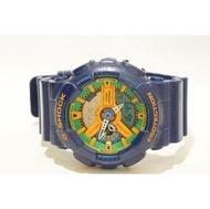 正版CASIO G Shock男錶5146 GA-110FC綠橘藍防水20Bar千分之一秒計時