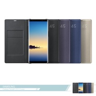 Samsung三星 原廠Galaxy Note8 N950專用 LED皮革翻頁式皮套 可插卡 /側翻書本式保護套藍色