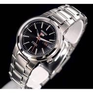 โปรแรง! แถมฟรีผ้าเช็ด (จัดส่งฟรี) นาฬิกาแบรนแท้ 100% นาฬิกาข้อมือผญ ผช นาฬิกาผู้หญิง ผู้ชาย SEIKO 5 Automatic รุ่น SNKA07K1 นาฬิกาข้อมือผู้ชาย สายสแตนเลส หน้าปัดสีดำ - แท้ 100% ประกัน 1 ปี