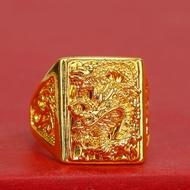 [จัดส่งฟรี] แหวนทอง 100% แหวนทอง 9999 แหวนเปิด. แหวนทองห้ากรัมลายใสสีกลางน้ำหนัก 39.6 กรัม (96.5%) ทองแท้ RG100-1กรุงเทพมหานคร Pattaya ส่งมอบ