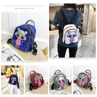 Hold Pencil Case Student Bag Bagpack LOL Surprise Doll Reversible Sequin Women Backpack Travel Bag Smiggle